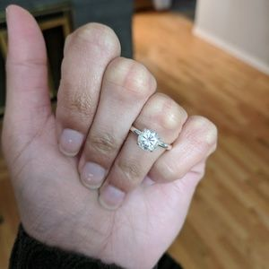 Jewelry - 1.3 ct Light Champagne Moissanite Engagement Ring